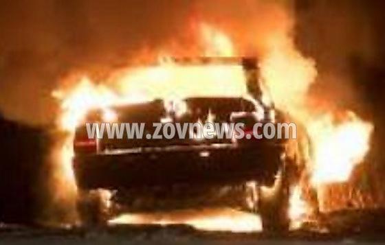 Avtomobil izgoria kato fakla